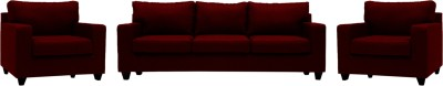 Wood At Home Fabric 3 + 2 Sofa Set Finish Color   Brown,   Straight