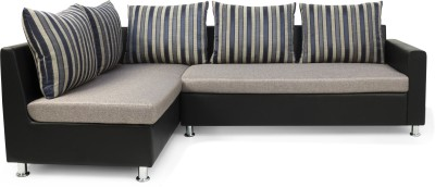 Solid Wood 3 Seater Sectional Finish Color   Black Grey