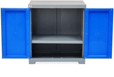 Nilkamal Plastic Shoe Cabinet Blue, Grey, 1 Shelves