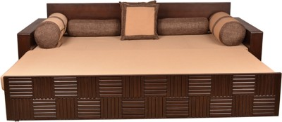 HomeTown SHINE Engineered Wood Double Sofa Bed Finish Color   Walnut Mechanism Type   Pull Out