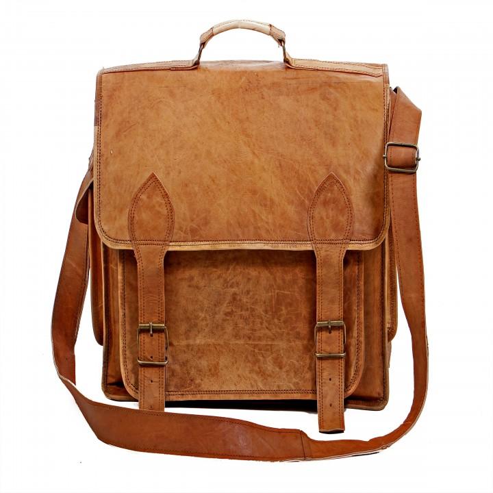 pranjals house vintage handmade leather camera bag/messenger bag