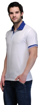 TSX Solid Mens Polo Neck T Shirt color blue   white ocassion casual