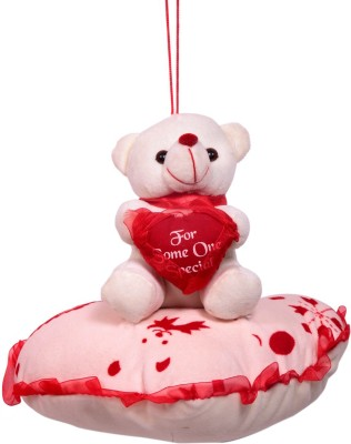 Dream Deals Teddy With Lovely Pillow   30 cm