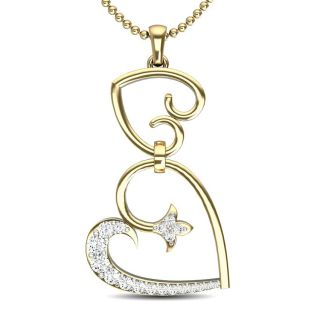 Forever In Love Gold And Diamond Pendant