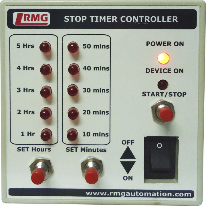stop timer controller for water pump motor operated by switchmcb upto 15 hp