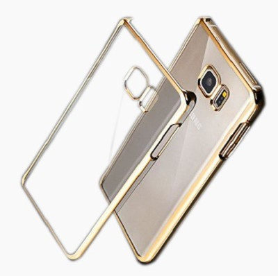 Mob Covers Back Cover for Samsung Galaxy S6 edge Plus Transparent, Gold