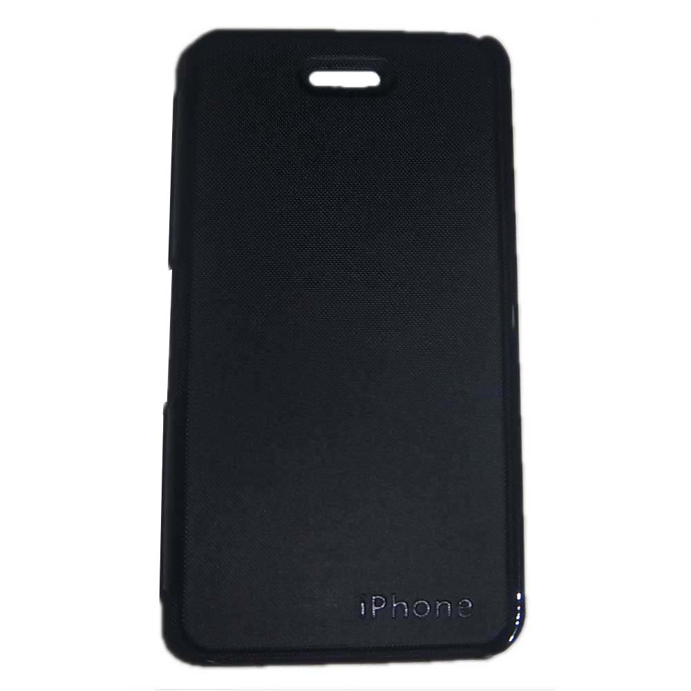 Flip Book Diary Cover Case for Apple iPhone 5G  Black
