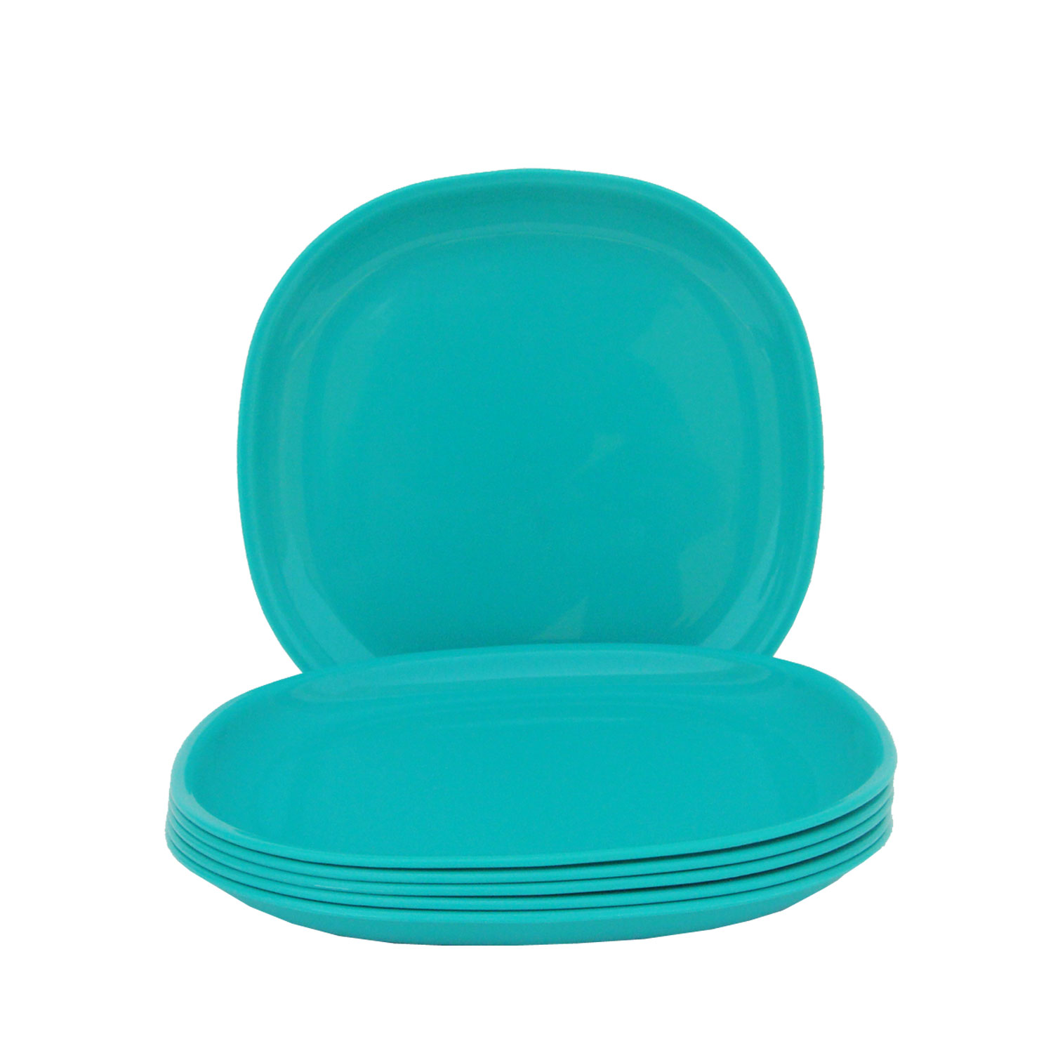 Incrizma   Square Dinner Plate Turquoise Green  6 Pcs