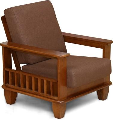 Solanki Solid Wood 1 Seater Sofa Finish Colour   Wenge