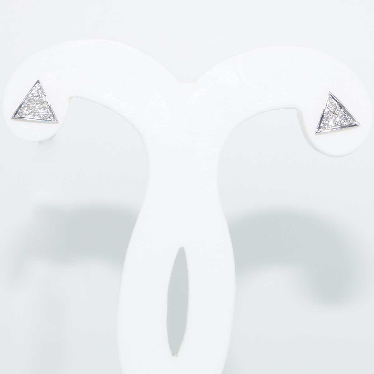 I Dream jewellery Diamond EarRing in 18KT Yellow Gold triangle shape EarRing