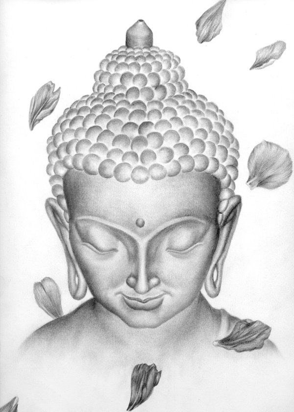 Lord buddha most beautiful drawing sold out