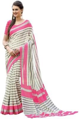 M LINKU SAH SILKS Printed Chanderi Cotton Sarees