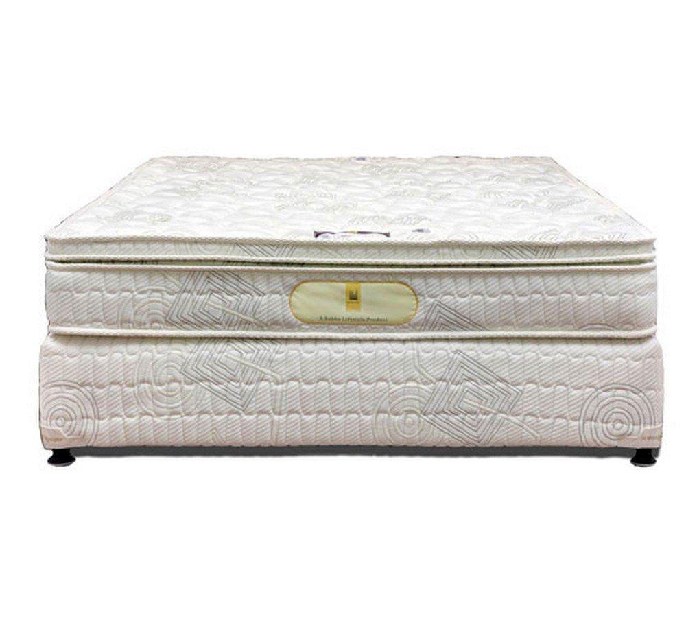 Shobha Restoplus Genesis 8 inch Single Size Spring Mattress  White, 78x36x8