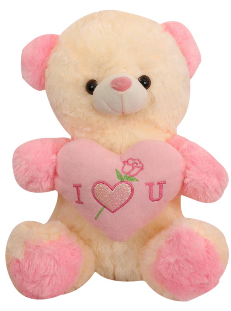 Tickles Pink Teddy With Heart Stuffed Soft Plush Toy Teddy Bear 40 cm T726
