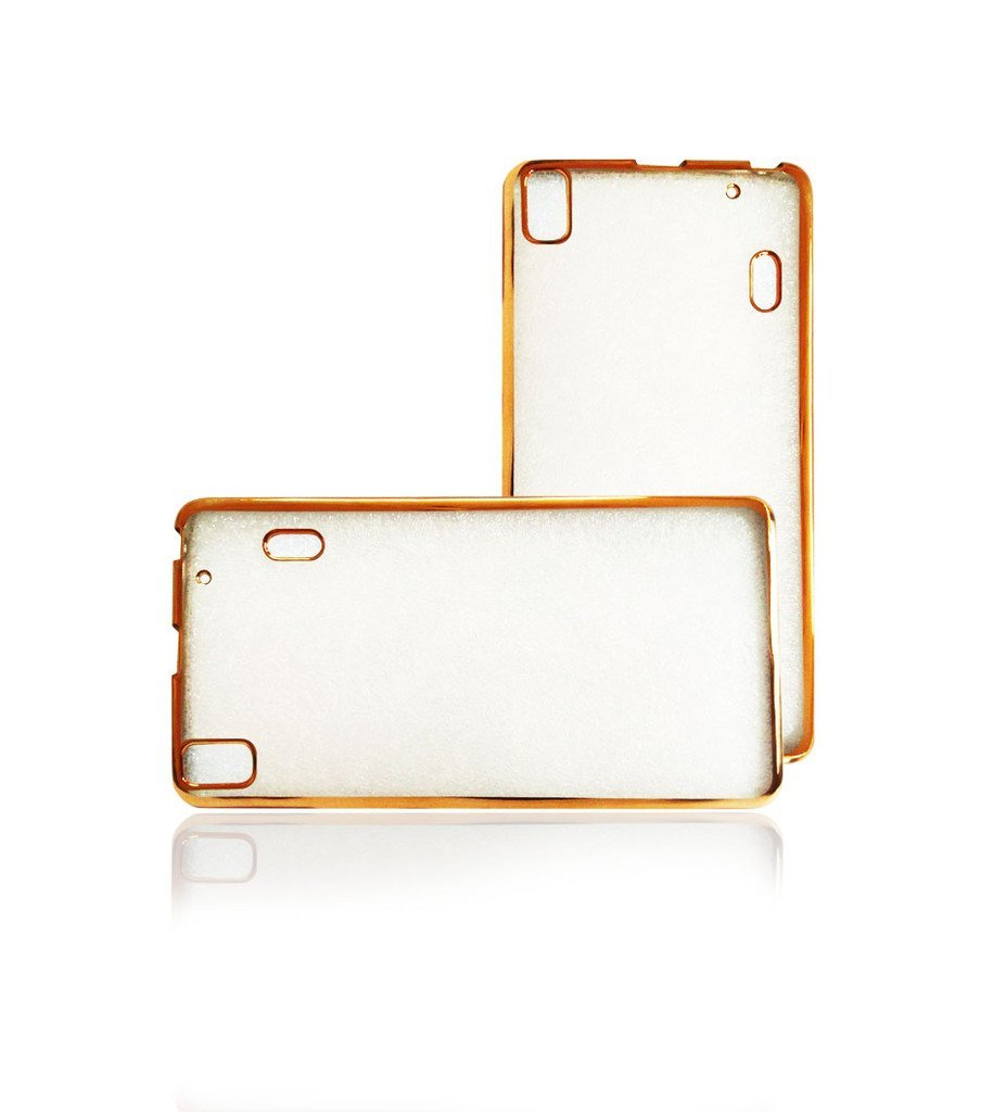 Transparent Back Cover For Lenovo A7000/K3NOTE With Electroplating GOLD