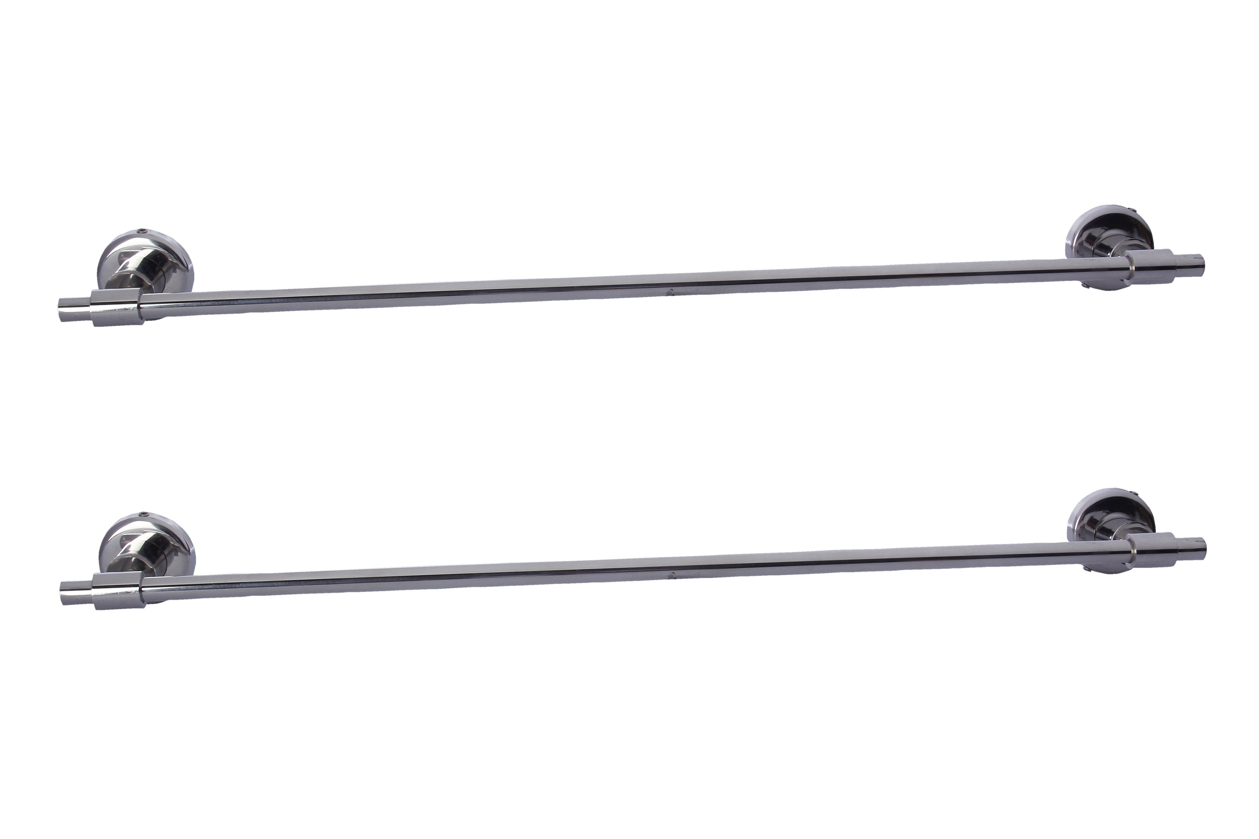 Dolphy Manual Set Of 2 Stainless Steel Bathroom Towel Rod 24 Inch
