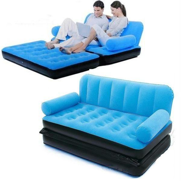 New 5 In 1 Velvet Sofa Inflatable Bestway Air Bed