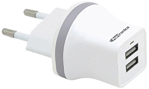 Portronics 2.1A Dual USB Charger  White