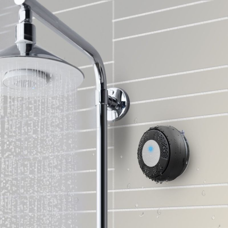 Portable Bluetooth Shower Speaker Waterproof Bluetooth Shower Speakers with Mic and Controls