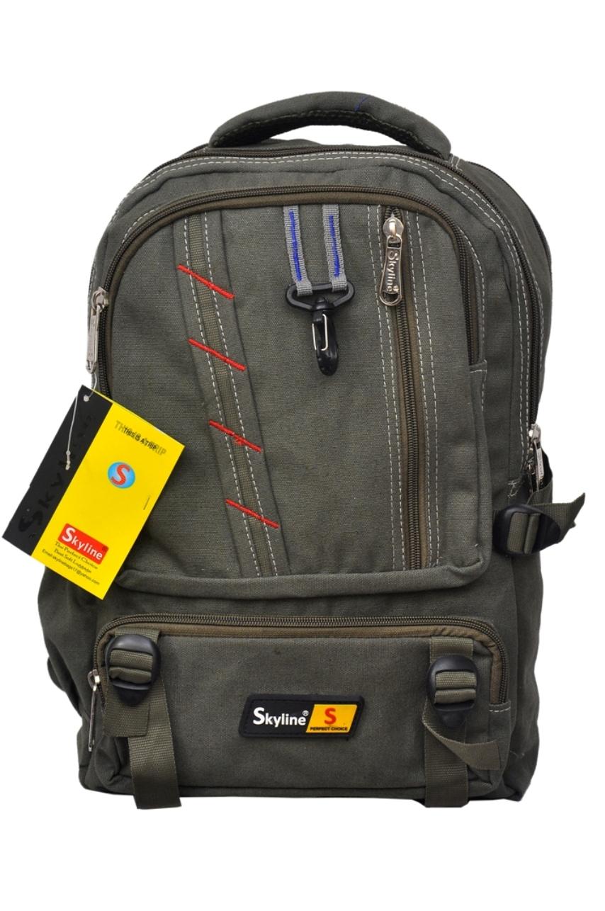 Skyline Brown Canvas Casual Backpacks Bag