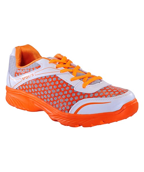 Yepme Groove Sports Shoes - White & Orange