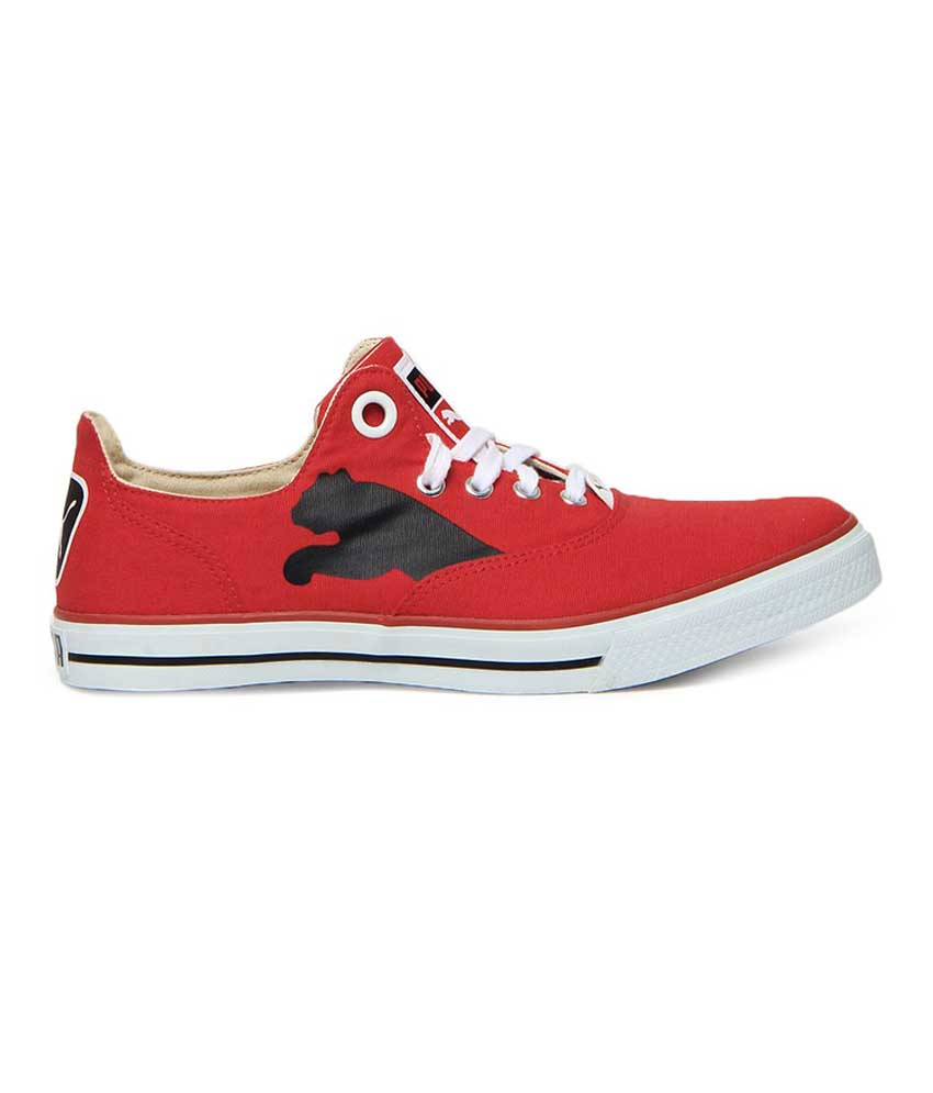Puma Unisex Red Black Limnos Cat Casual Shoes