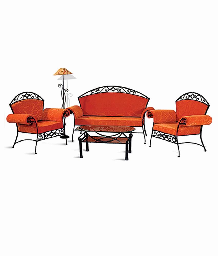 4 Sofa Set  2+1+1  in Orange