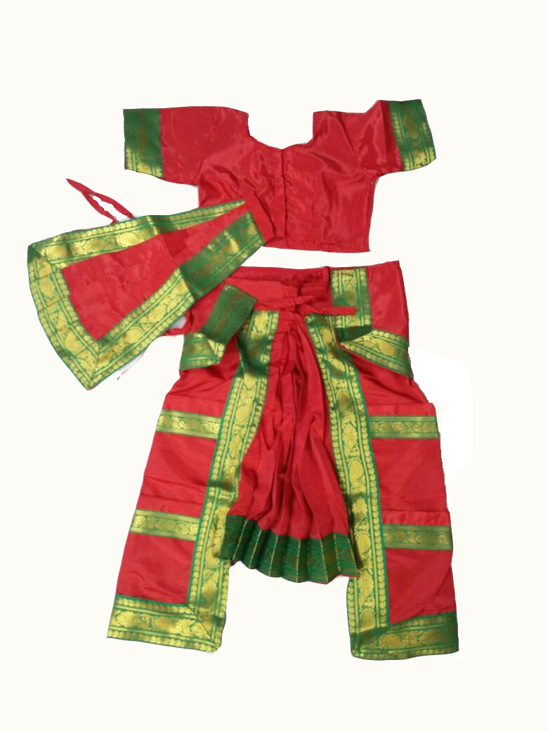 Bharatanatyam Dance Dress Ready Made Red Color Costume & Online Shopping Site : Buy Mobiles Electronics Fashion Clothing ...
