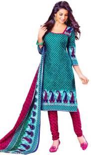 Pari Fashion Cotton Printed Salwar Suit Dupatta Material Un stitched