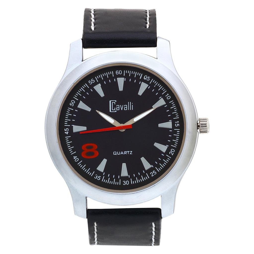 Cavalli Black Dial Elegant Analog Watch  For Men, Boys