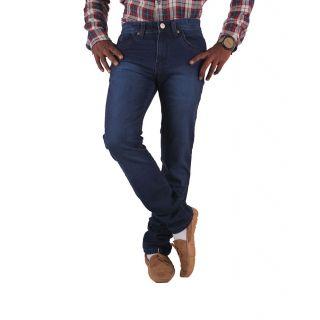 Men's Regular Fit Dark Blue Jeans
