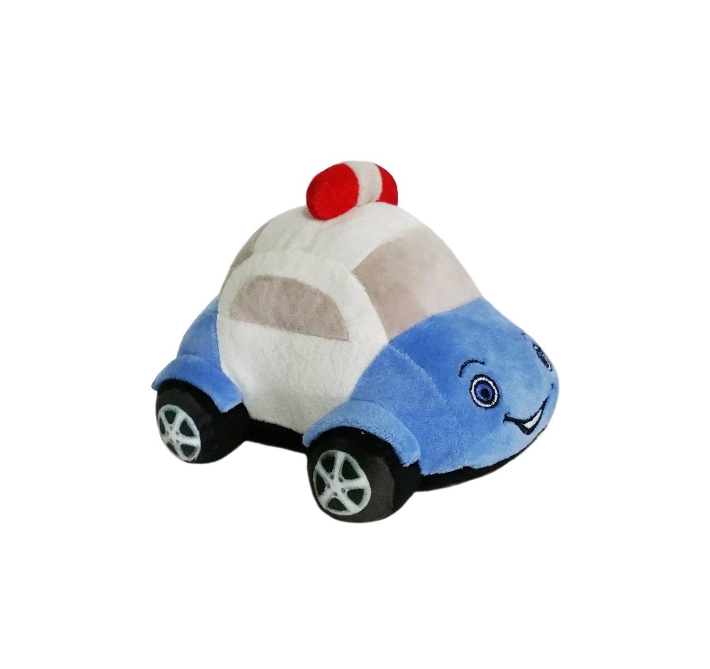 Soft Buddies Plush Toy Car, Blue