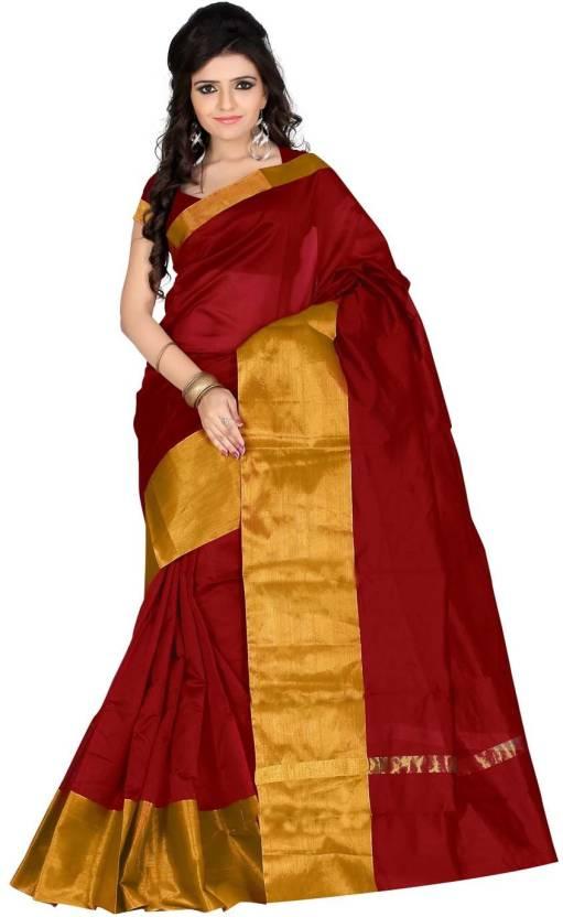 Sarita Sarees. Yellow Printed Art Silk Saree