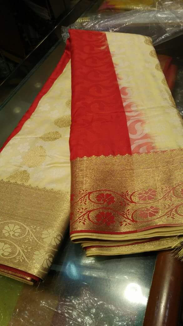 Exclusive Sarees Beige Self Design Art Silk Saree