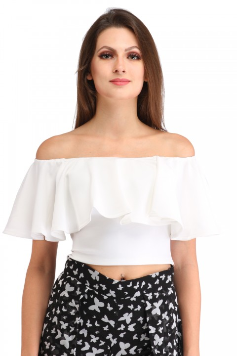 Cation white crop top