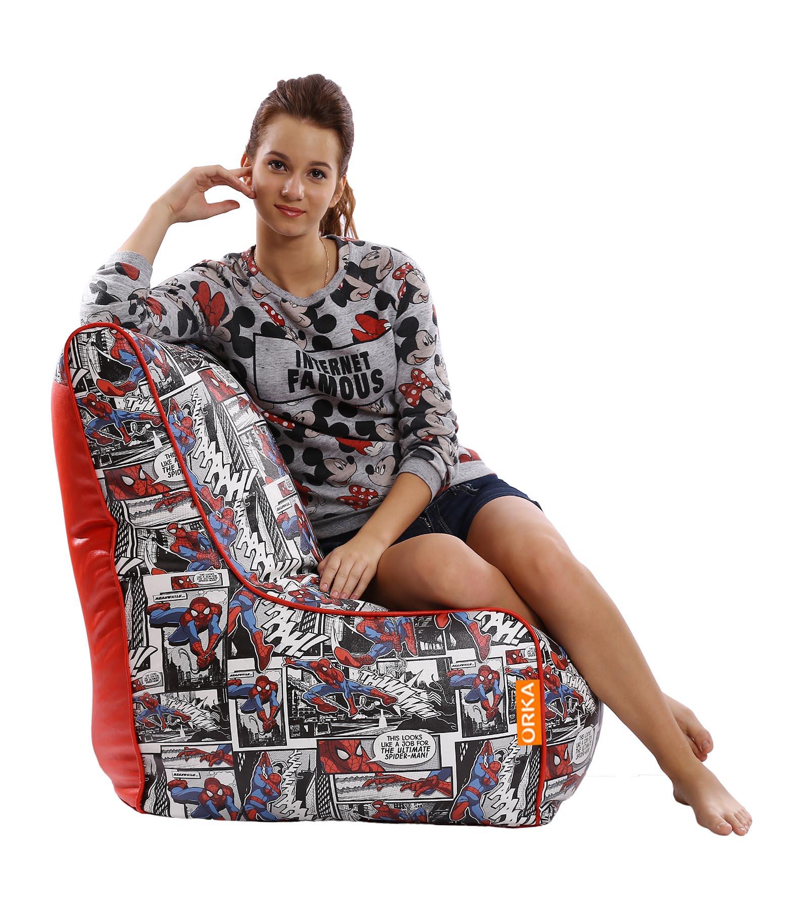 ORKA   Spiderman Digital Printed Bean Chair Cover