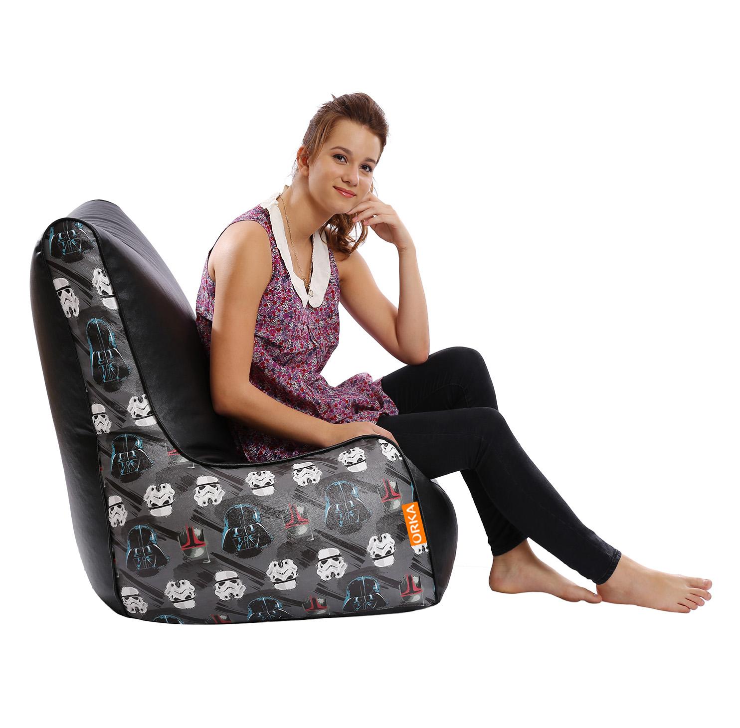 ORKA   Star Wars Dark Digital Printed Bean Chair Cover