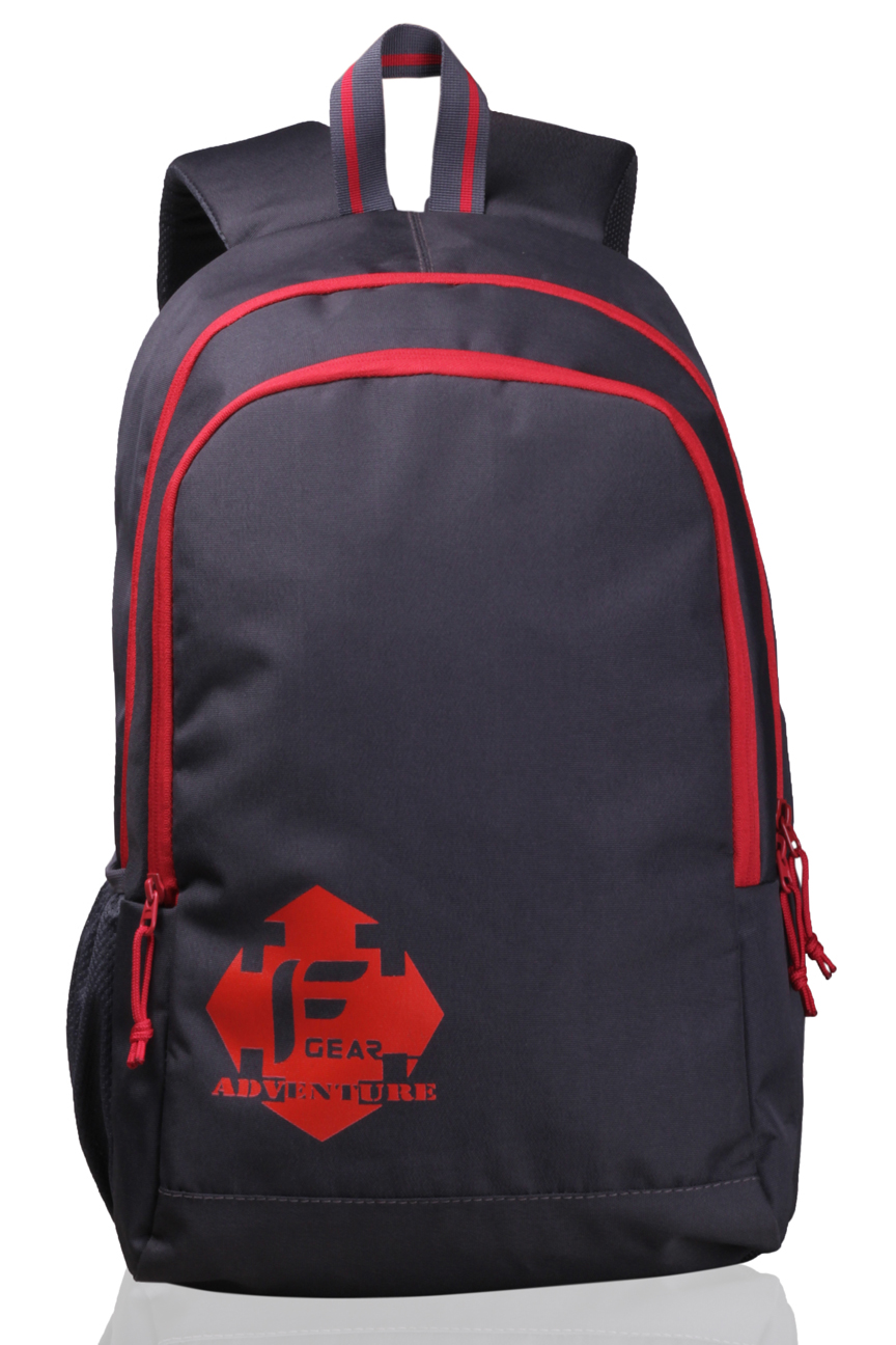 F Gear Castle   Rugged Base Grey Red Backpack