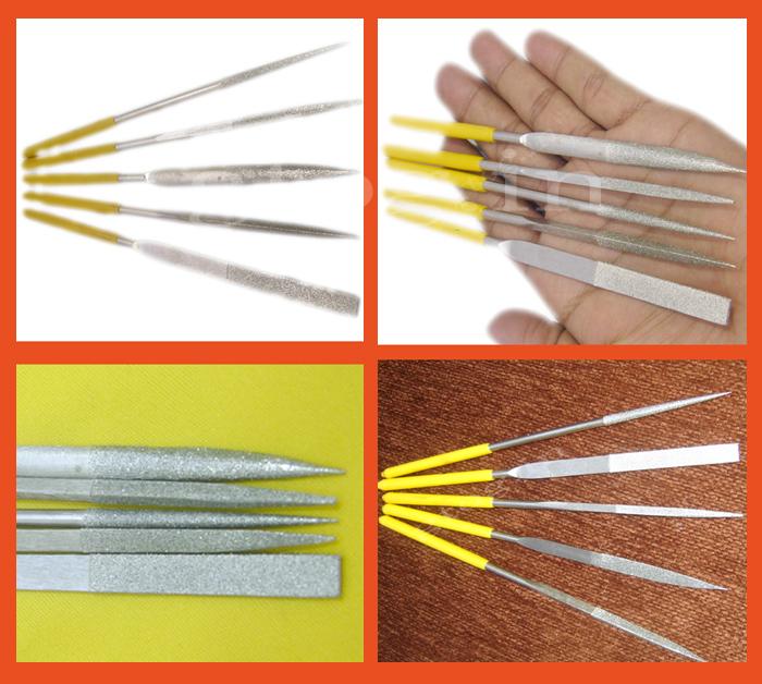 Needle File Knife Tool Set Mirror Ceramics Diamond Of 5PC