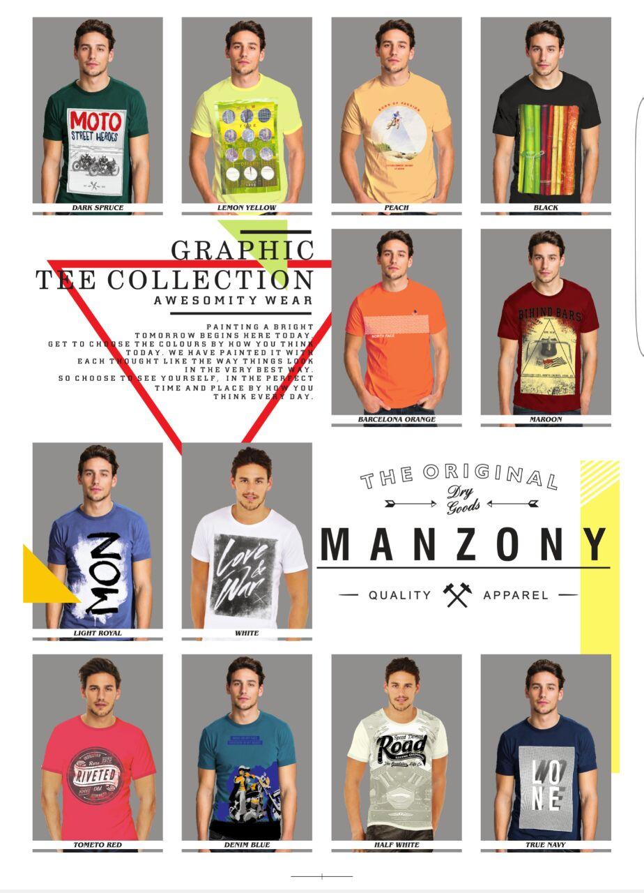 Graphic Round Neck T Shirts