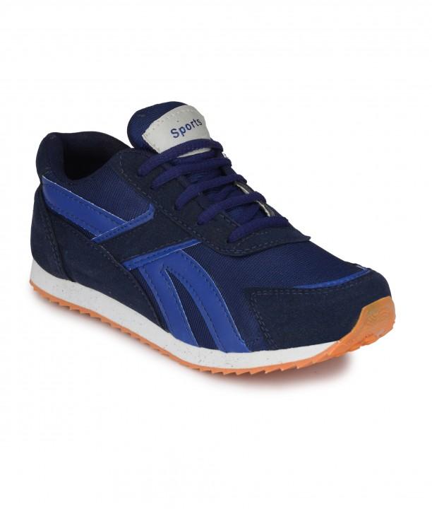 Groofer Mens Blue Running Sport Shoes