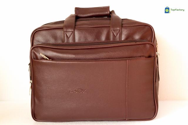 Safex Stylish Brown Color Expandable 15.6 inches Laptop Messenger Bag