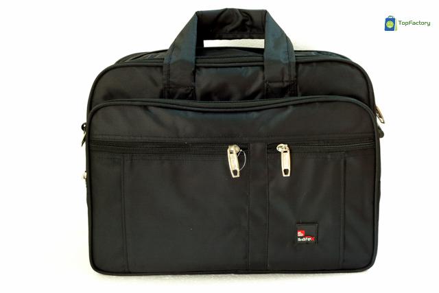 Safex Stylish Black Color Expandable 15.6 inches Laptop Messenger Bag