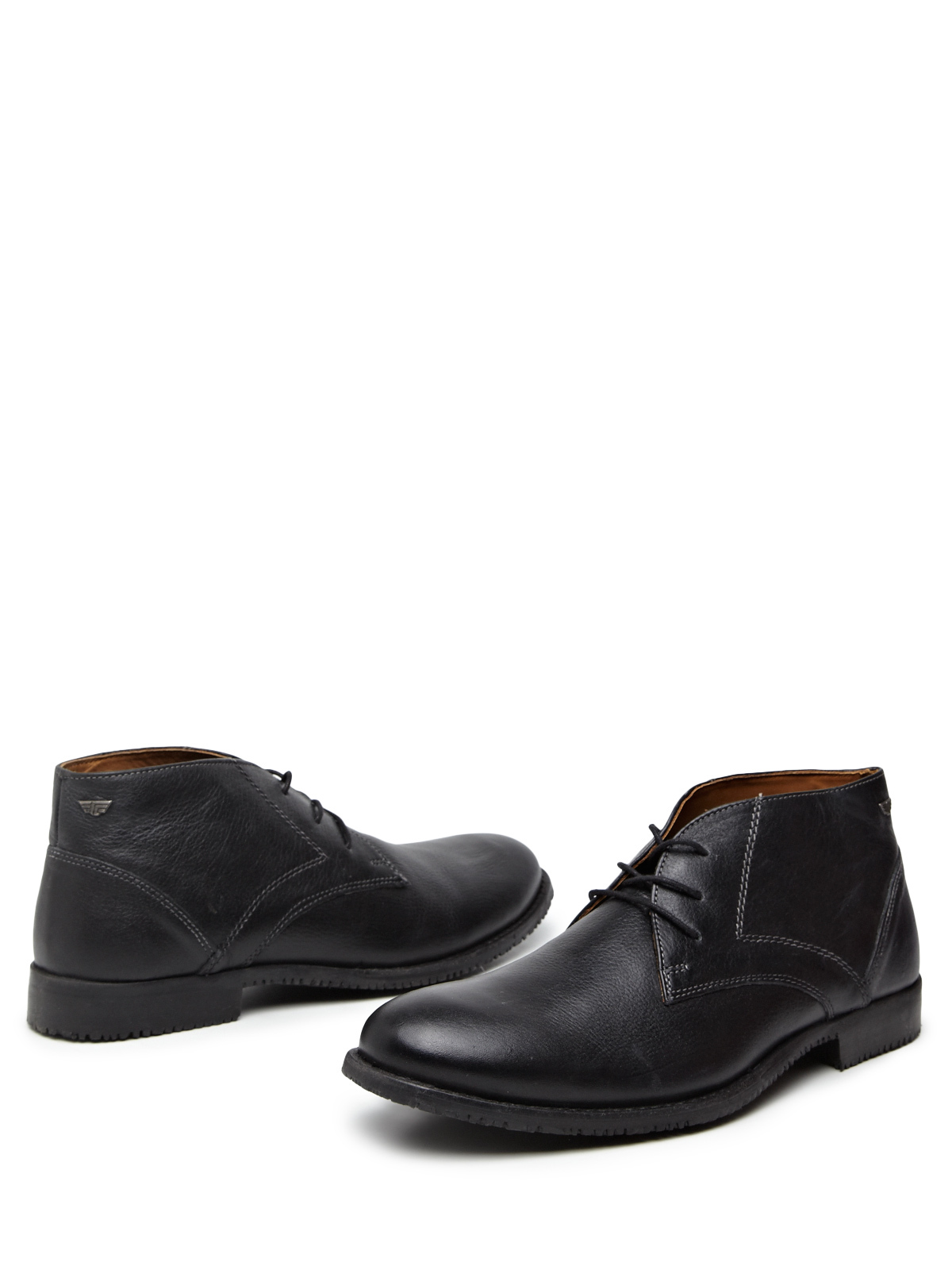 Redtape Formal Textured Lace Up Shoes (Black)