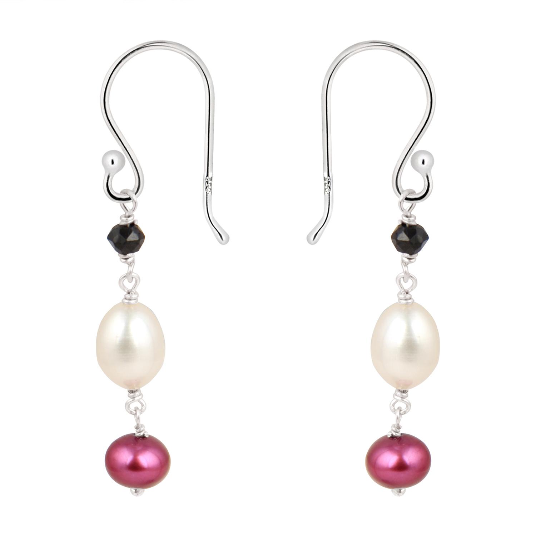 Artistic 925 Silver Fresh Water Pearl Earrings by Pearlz Ocean.