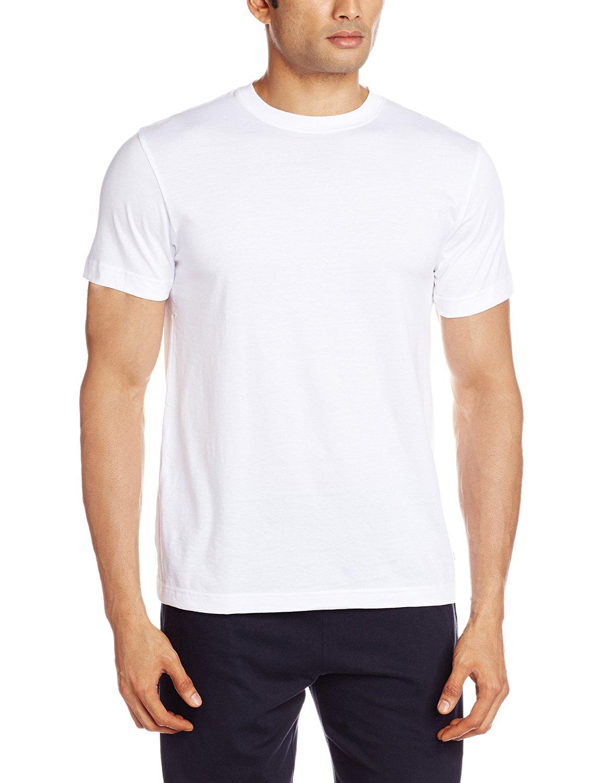 Men's Round Neck Cotton T Shirt  White