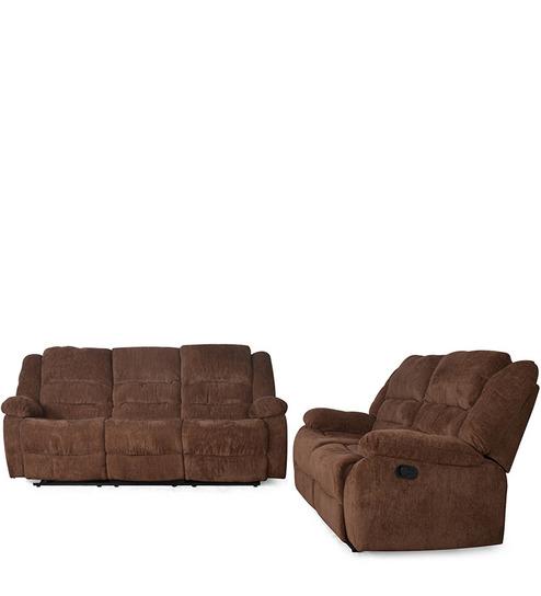 Earthwood   Sofa recliner set 3+2  chocolate colour