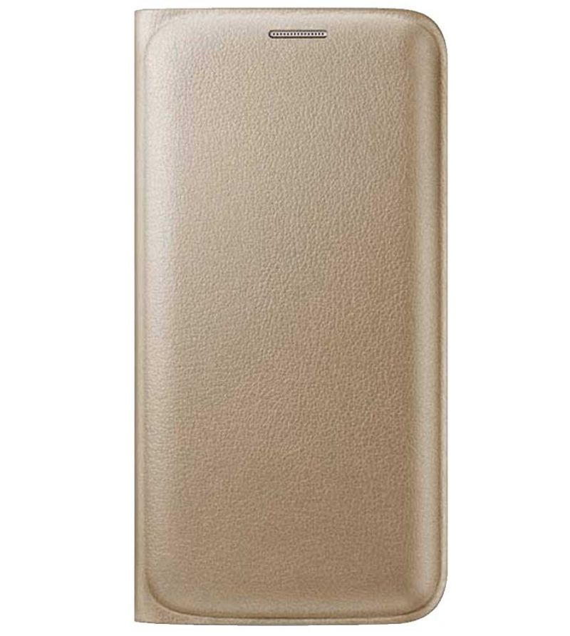 Snaptic Limited Edition Golden Leather Flip Cover for Lenovo K6 Note