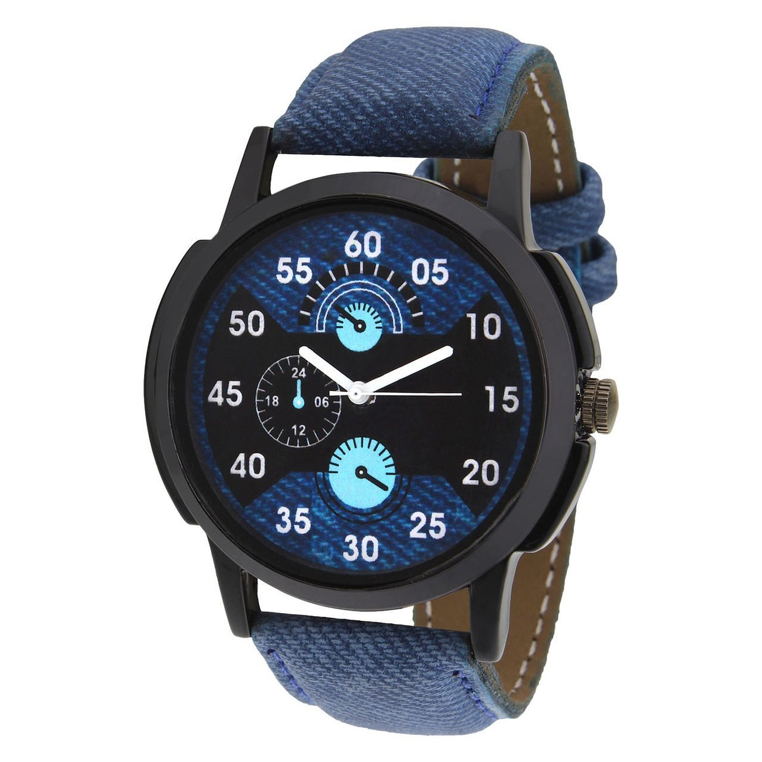 Analog Round Casual Wear black dial Watches for Men