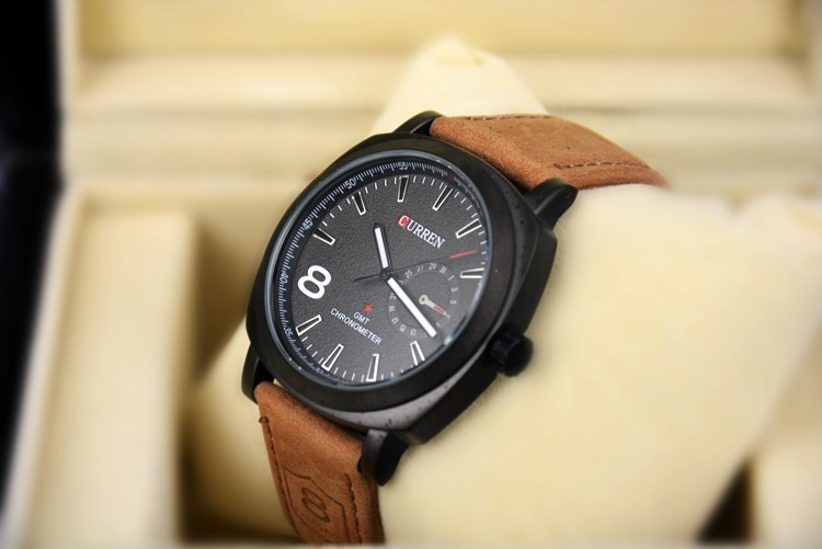 Curren Business Man 8 Number Quartz fashion Vogue Sport Casual Wrist Watch